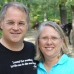 Dick and his wife Jerri at the outdoor Sunday service at Cedars Camps on a Celebrate Marriage! weekend